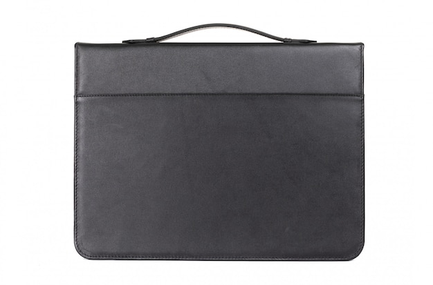 Closed matte leather document folder