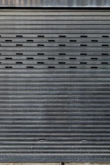 Closed metal plate door