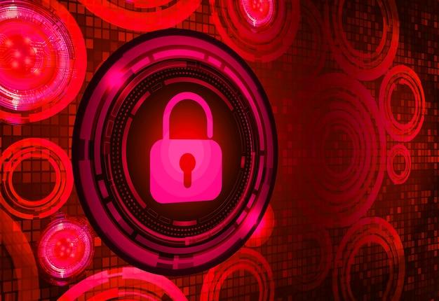디지털 배경, 사이버 보안에 닫힌 자물쇠
