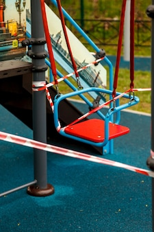 Closed playground outdoors