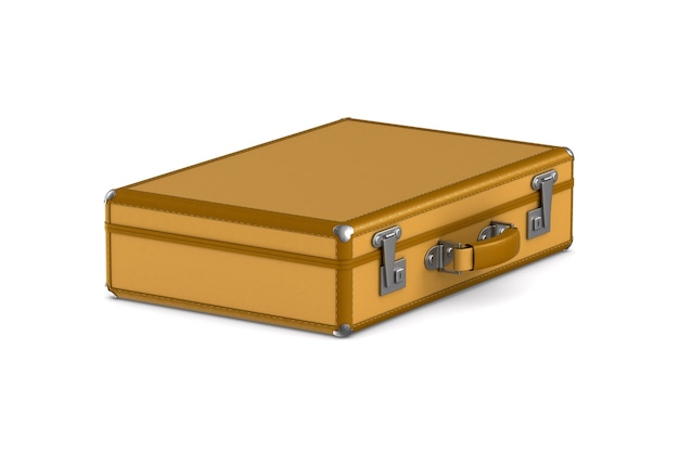 空白の閉じたトラベルバッグ。分離された3dイラスト