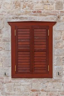 Closed window shutters