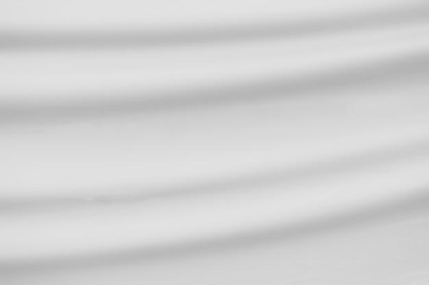 근접 촬영 3d 우아한 흰색 실크 직물 천으로 배경과 텍스처의 구겨진.