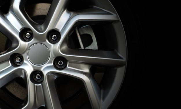 Closeup alloy car wheels