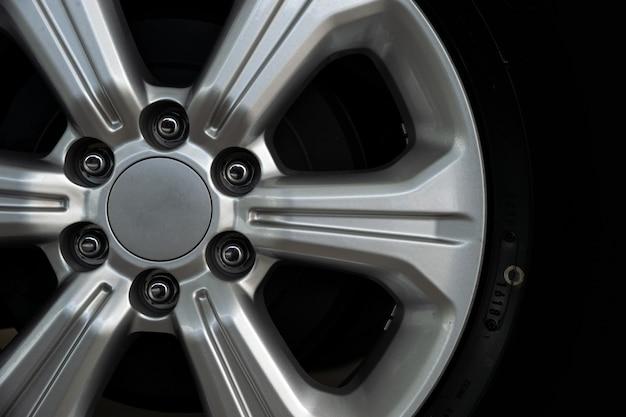 Closeup alloy car wheels