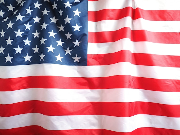 Closeup of american flag for 4th of july holiday background.