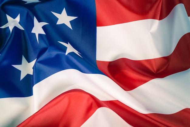 Closeup american flag background