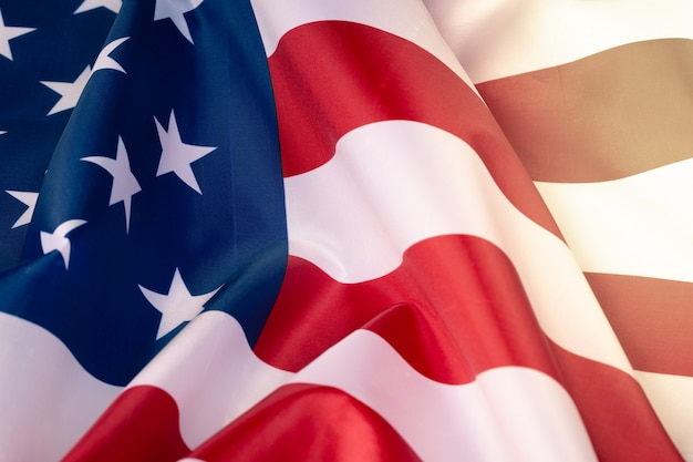 Closeup american flag