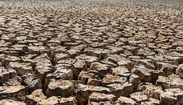 Крупный план засушливой текстуры почвы