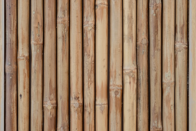 Closeup of bamboo wooden for background and texture.