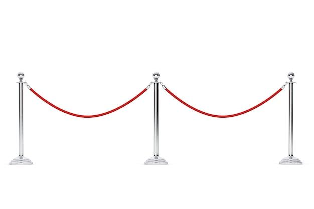 흰색 배경에 근접 촬영 장벽 로프