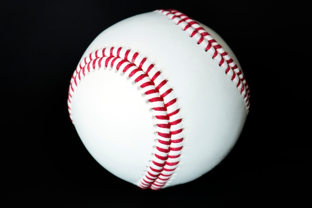 Closeup of baseball