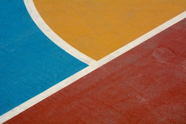 Closeup basketball court