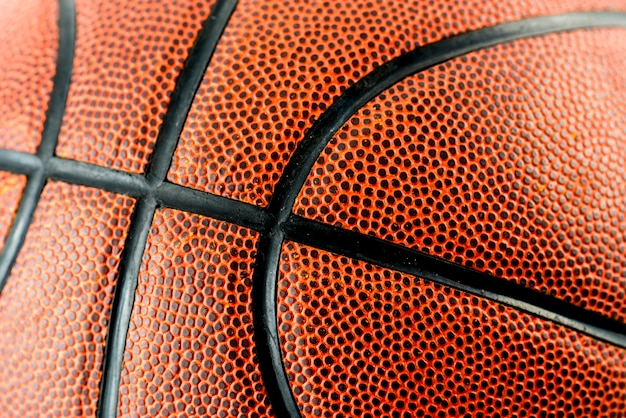 Closeup of basketball