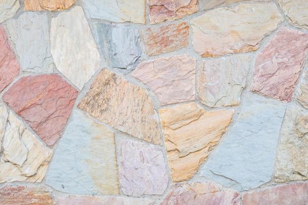 Closeup beautiful stone bricks wall texture background
