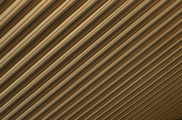 Closeup of beigebrown corrugated surface causing optical illusion