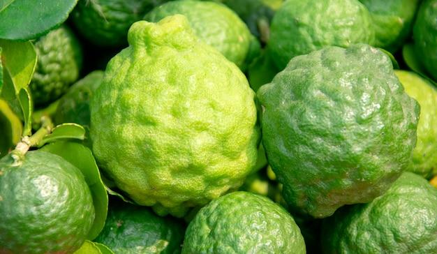 Closeup bergamot texture background