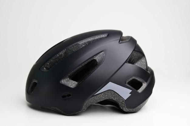 Closeup of bicycle helmet isolated on white surface bike helmet