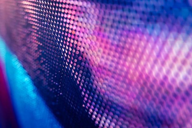 Closeup of blurred led screen