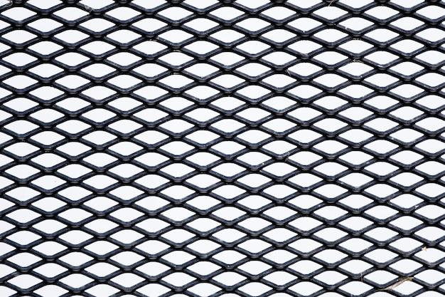 Closeup cage background dark tone, net texture