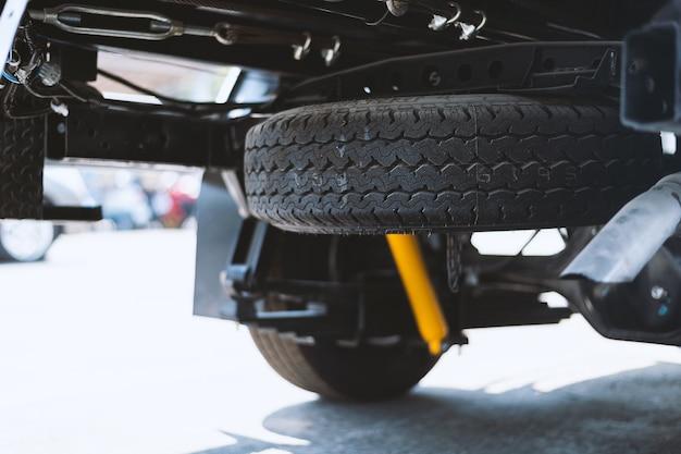 Closeup car spare tire