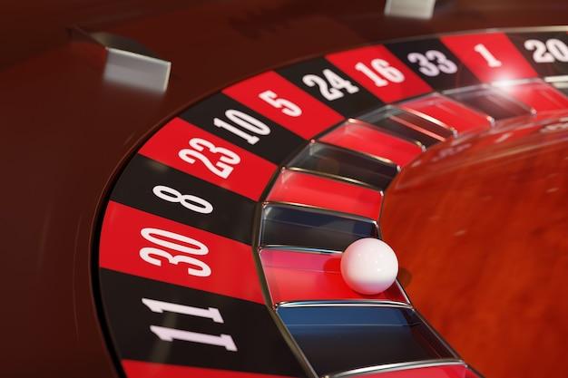 Closeup of a casino roulette wheel. selective focus.