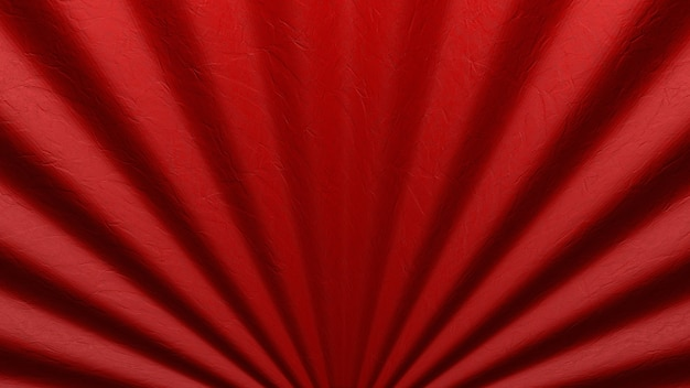 Closeup chinese style folded fan or curtain for cinema background.