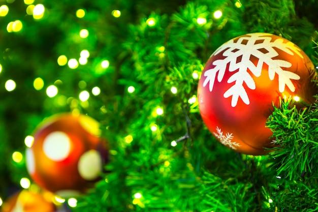 Closeup of christmas-tree decorations