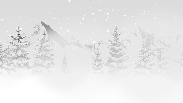 暗い背景にクローズアップクリスマスツリー。冬の休日のための豪華でエレガントなダイナミックスタイルの3dイラスト