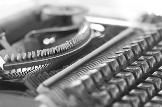 Closeup classic typewriter