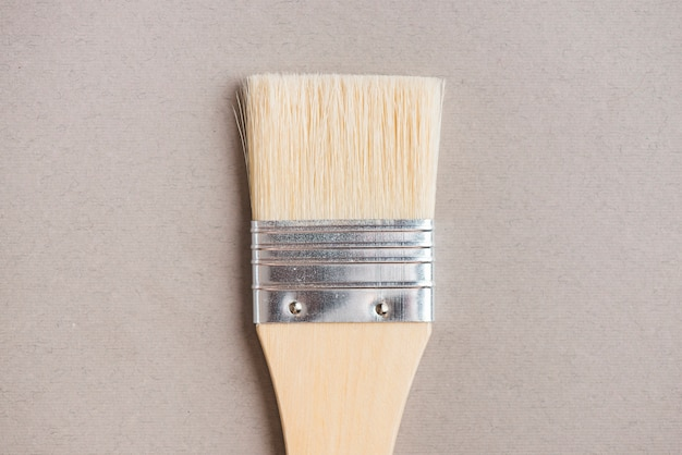 Closeup clean bristle paintbrush