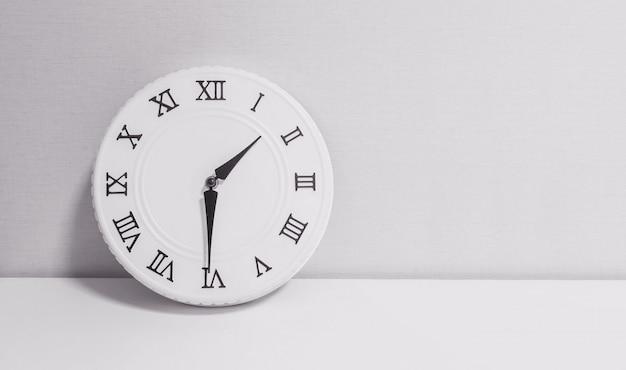 Closeup clock for decorate show half past one o'clock