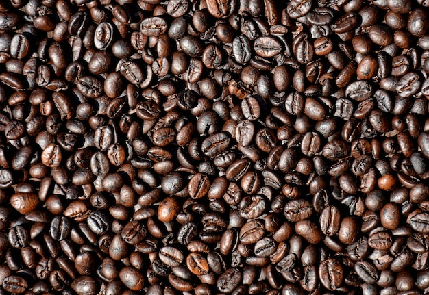 Closeup coffee beans