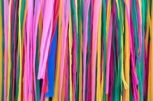 Closeup of the colorful fabric in the traditional thai style.