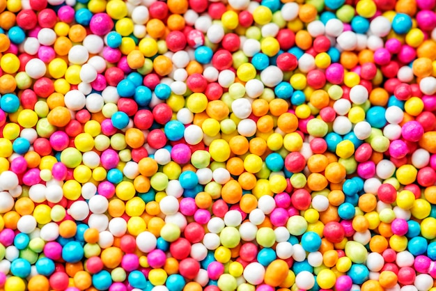 Closeup of colorful round textured background