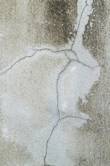 Closeup of cracked in concrete wall (concrete texture)