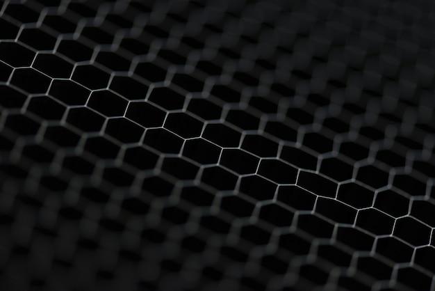 六角形の灰色の光沢のある背景のクローズアップトリミング写真撮影画像