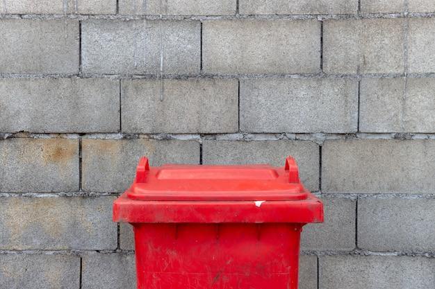 Closeup dangerous trash bin