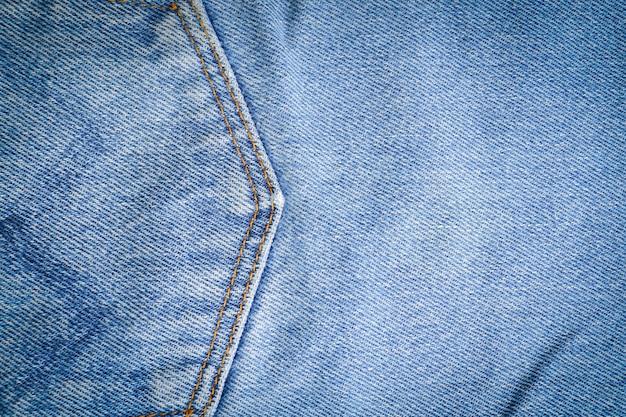 Closeup of denim jean texture