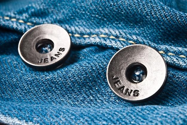 Closeup detail of a blue jeans