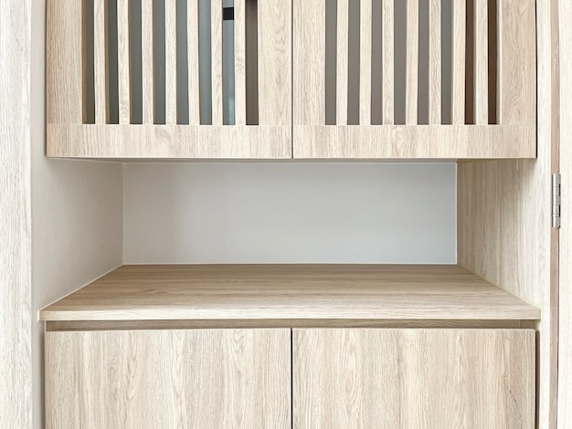 Деталь крупного плана деревянной мебели