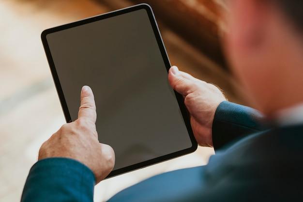 Closeup of a digital tablet