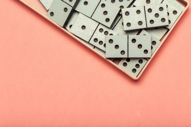 Closeup of domino game