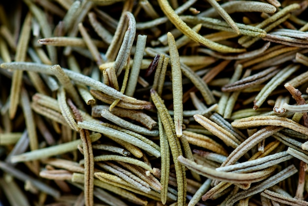 Closeup of dried rosemary