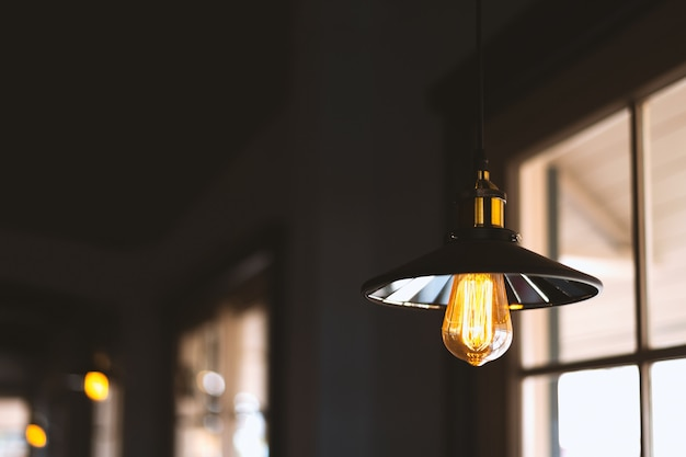 Closeup edison lamp