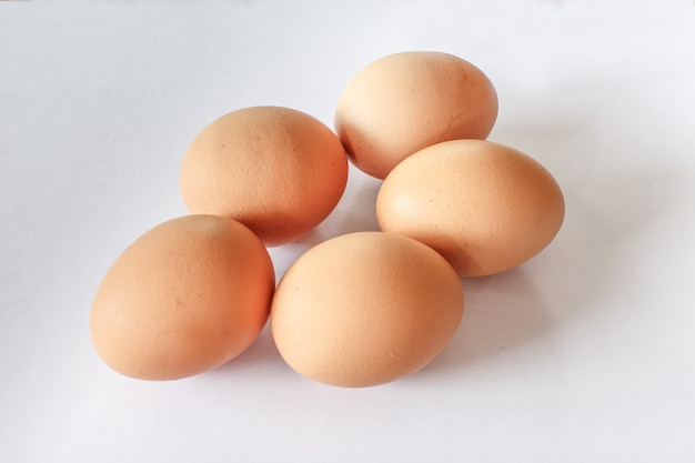 Деталь крупным планом яйцо изолированные