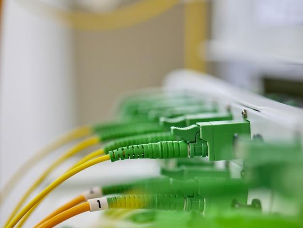 Closeup fiber optical connector