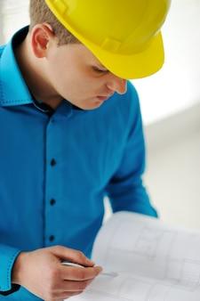 Closeup of a foreman