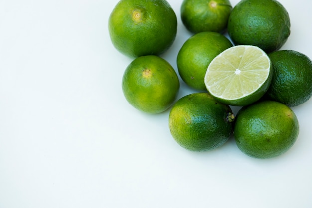Closeup of fresh lime