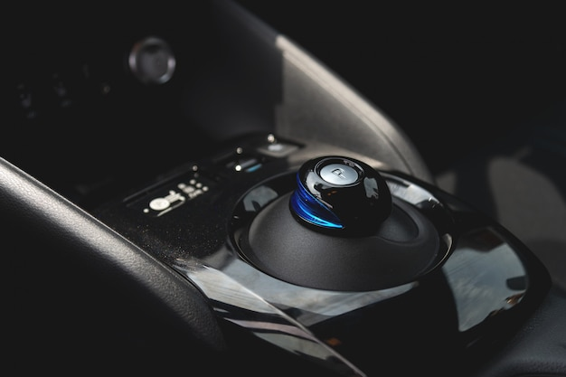 Closeup gear electric car